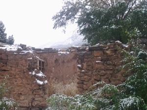 11.16.14 Snow on adobe