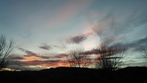 Caballo sunset